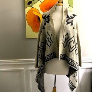 Tahari cardigan Taupe & black size M